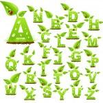 alfabeto de la naturaleza — Vector de stock