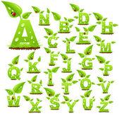 Nature alphabet — Stock Vector
