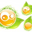 Vector nature emoticon - Stock Vector