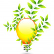 Nature light bulb icon — Stock Vector