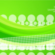 Green wave background - Stok Vektr