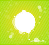 Green nature silhouette background — Stok Vektör