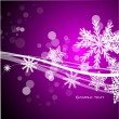 Vector purple Christmas background — ベクター素材ストック