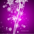 Vector purple Christmas background — Stock Vector