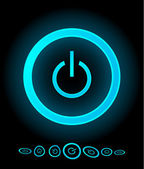 Vector power buttons — Wektor stockowy