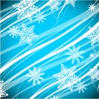 Stock Vector: Blue Christmas wavy lines background
