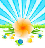 Abstract flower background — Stock Vector