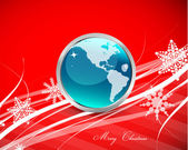 Red Christmas lines background — Stock Vector