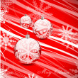 Red Christmas lines background — Stock vektor