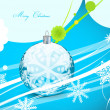 Blue Christmas wavy lines background — Stock Vector #10170409