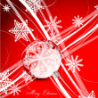 Red Christmas lines background — Vettoriali Stock