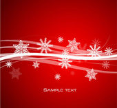 Fondo de líneas de navidad rojo — Vector de stock