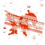 汚れたの赤い旗 — ストックベクタ