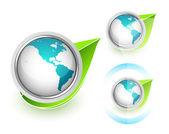 Eco Globe — Stock Vector