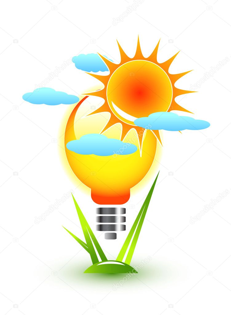 Nature and electricity concept — Stock Vector #10189372