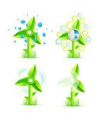 Natur und strom-konzept — Stockvektor