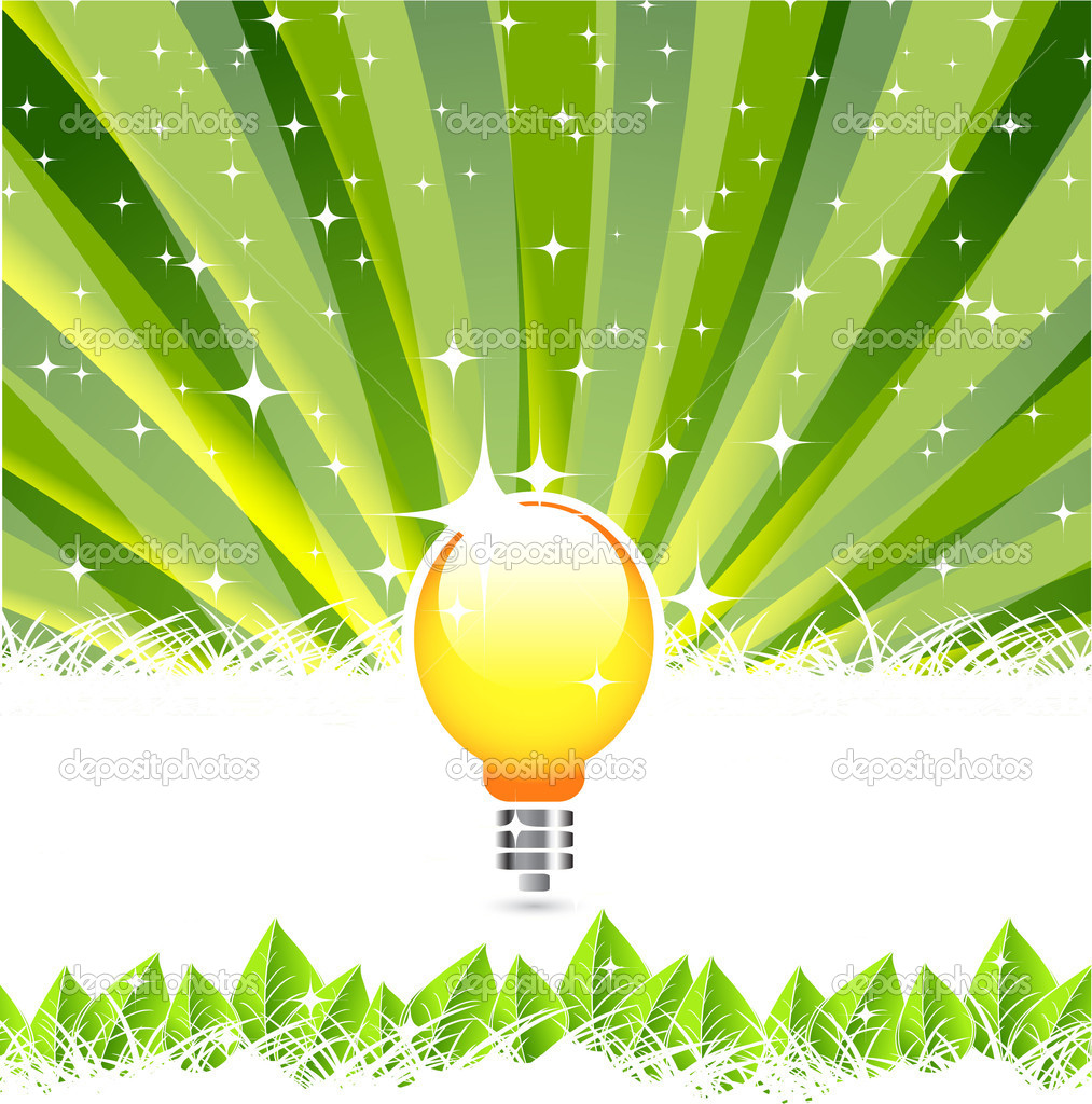 Nature and electricity concept — Stock Vector #10193478