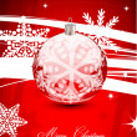 Rode abstracte achtergrond van Kerstmis — Stockvector  #10200853
