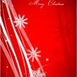 Red Christmas abstract background — Stok Vektör #10201130