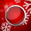 Red Christmas abstract background — Imagens vectoriais em stock