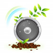 Vector natural speaker concept - Stock Vector