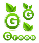 Green leaf vector concept — Stock Vector