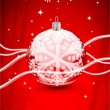 Red Christmas abstract background — Imagen vectorial