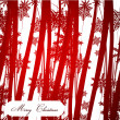 Red Christmas abstract background — ストックベクタ
