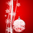Red Christmas abstract background — Cтоковый вектор