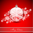 Stok Vektör: Red Christmas abstract background
