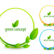 Green concept icons — Stock Vector