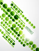 Green circles abstract background — Stock Vector