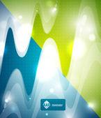 Transparent wave background — Stock Vector