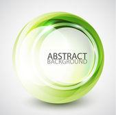 Abstrait faire tourbillonner fond de sphère — Vecteur