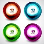 Vector swirl set — Stock Vector #10368213