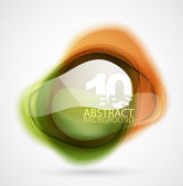 Vector translucent shapes abstract background — Stock Vector