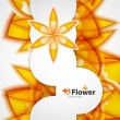 Vector abstract orange flowers background — Stock Vector #10583905