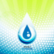 Stock Vector: Water drop background