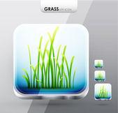 Grass app icons — Stock Vector