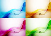 Set of wave backgrounds — Stock Vector