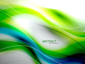 Blurred abstract blue green wave background — Stock Vector