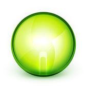 Green light bublb energy saving concept — Stock Vector