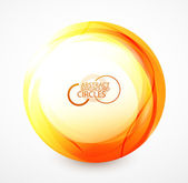 Esfera naranja — Vector de stock