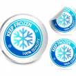 Keep frozen label — Stock Vector