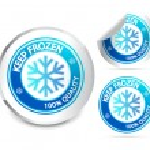 Keep frozen label — Stock Vector