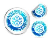 Garder congelé étiquette — Vecteur