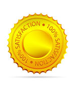 Golded satisfaction tag — Stock Vector