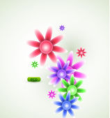 Vector abstract flowers — Stock Vector