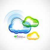Blue technology cloud — Stock Vector