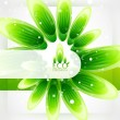Eco-friendly abstract nature background - Image vectorielle